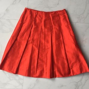 Dresses & Skirts - Banana republic red silk skirt